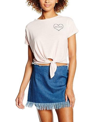 New Look Heart Pocket, Camiseta sin Mangas para Mujer