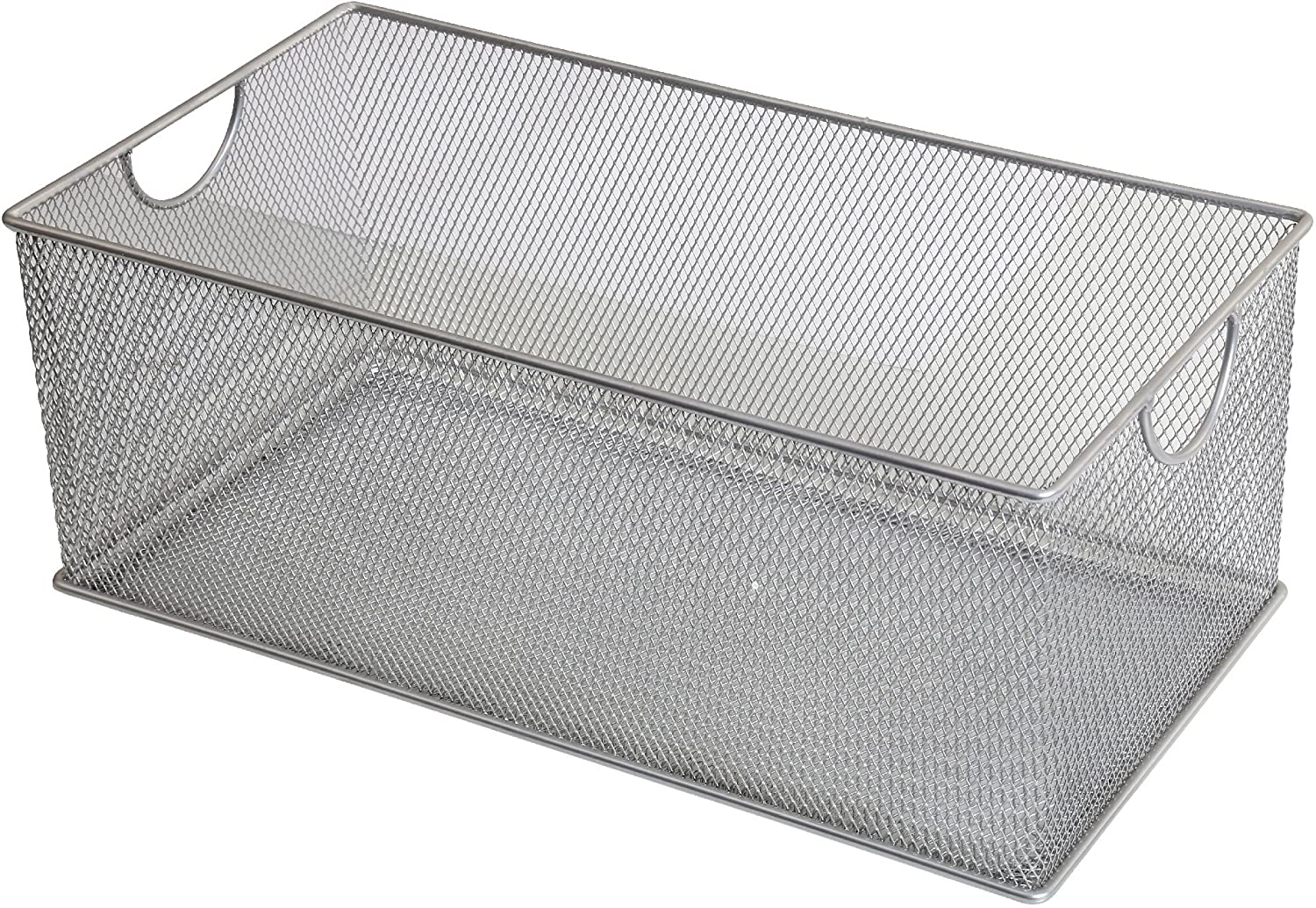 Charmant Amazon.com: Ybm Home Mesh Storage Box, Silver Mesh Great For School Home Or  Office Supplies, Books , Computer Discs And More 2302 (1, Zip Box  8 X 4.5  X 4.8 ...