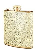 Blush 2088 Sparkletini Stainless Steel Glitter Flask, Gifts for Women, Hidden Alcohol Barware, 6 oz, Gold