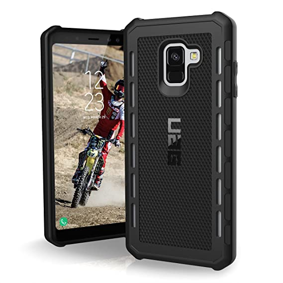 URBAN ARMOR GEAR UAG Designed for Samsung Galaxy A8+ [6-inch Screen] [2018] Outback Feather-Light Rugged [Black] Military Drop Tested Phone Case