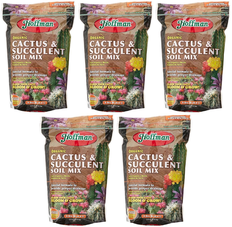Hoffman 10404 Organic yoPbe Cactus and Succulent Soil Mix, 4 Quart (5 Pack)