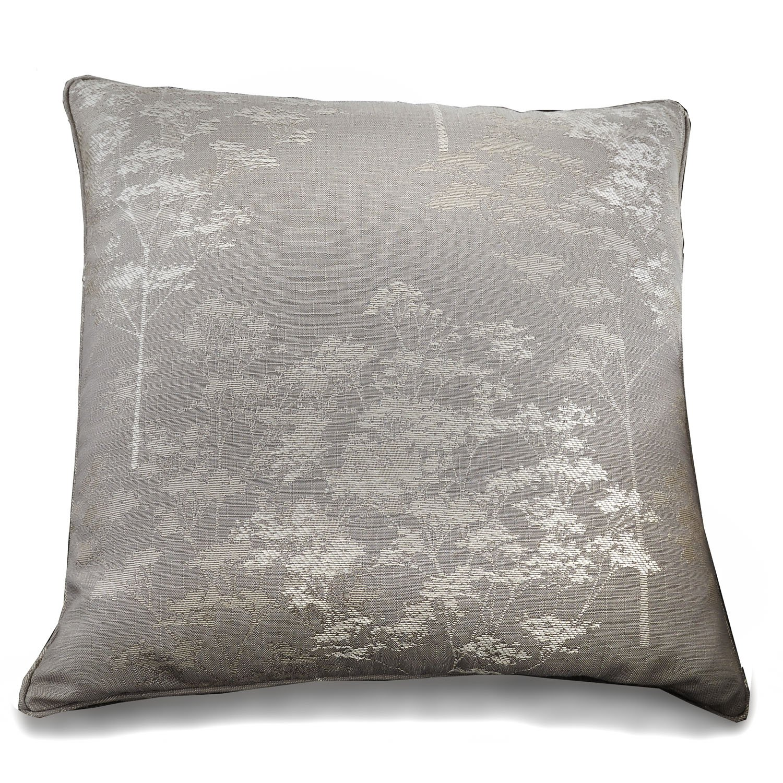 Curtina Elmwood Floral Print Filled Cushion, Silver, 43 x 43 Cm J Rosenthal EWDSV177FP1