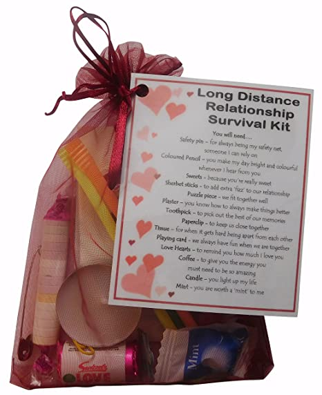 SMILE GIFTS UK Long Distance Relationship Survival Kit Gift Great Novelty Present For Girlfriend Or