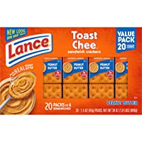 Deals on 120CT Lance Sandwich Crackers Toastchee Peanut Butter