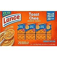 6-Pack of 20-Count Lance Peanut Butter/Cheese Cracker Sandwich Cracker Packs