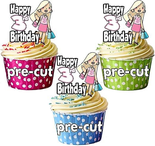 PRECUT: Bolsos de compras de glamour – 3er cumpleaños niña ...