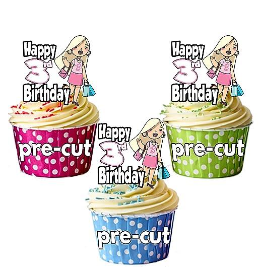 PRECUT: Bolsos de compras de glamour - 3er cumpleaños niña ...