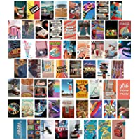 Btaidi 60 Set 80s 90s Retro Aesthetic Picture for Wall Collage, 4x6 inch Colorful Collage Kit, Retro Room Decor for…