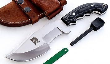 CFK Cutlery Company IPAK USA BULLDOG Custom Handmade D2 Tool Steel Camo  Micarta LARGE Tactical Tracker