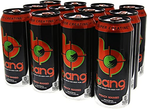VPX Bang Peach Mango – 16 Fl. Oz 12 Count 1 PT 473 ml