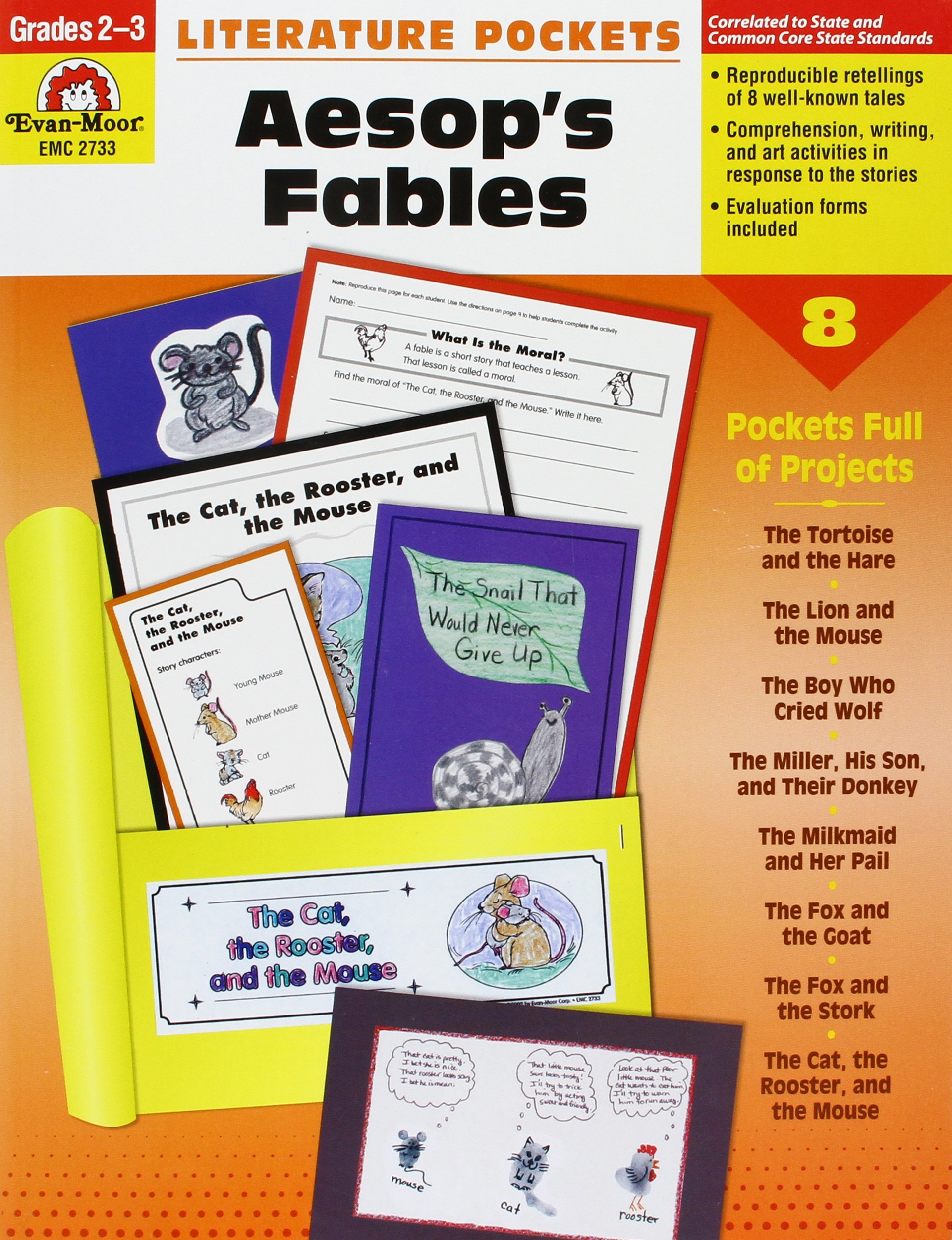 Amazon.com: Literature Pockets, Aesop's Fables, Grades 2-3 (9781557998743):  Evan Moor: Books