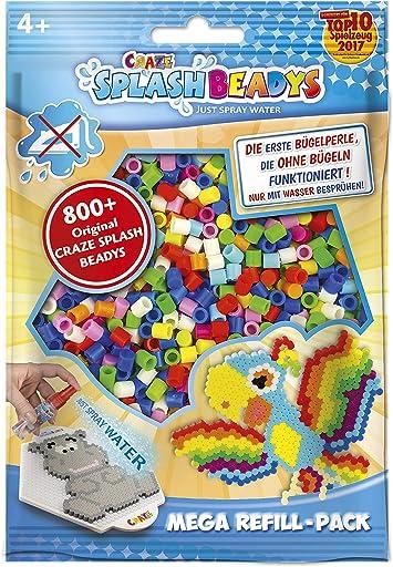 CRAZE- Cuentas de fusibles Fuse Beads Splash BEADYS Juego de Recambio de Perlas de Agua artesanales de Repuesto Conjunto Mixtos de Varios Colores 15247, Multicolor , color/modelo surtido: Amazon.es: Juguetes y juegos