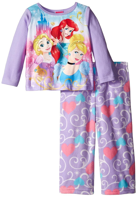 Disney Little Girls Perfect Princess Trio 2-Piece Pajama Set