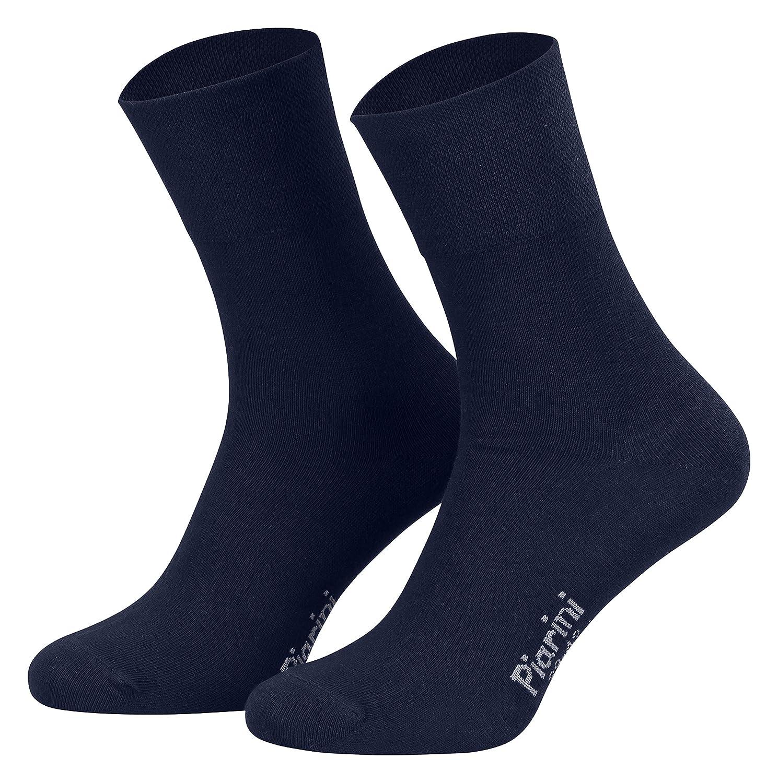 Piarini 8 pares de calcetines unisex - Sin elástico - Ajuste cómodo - Caña de elastano y piqué: Amazon.es: Ropa y accesorios
