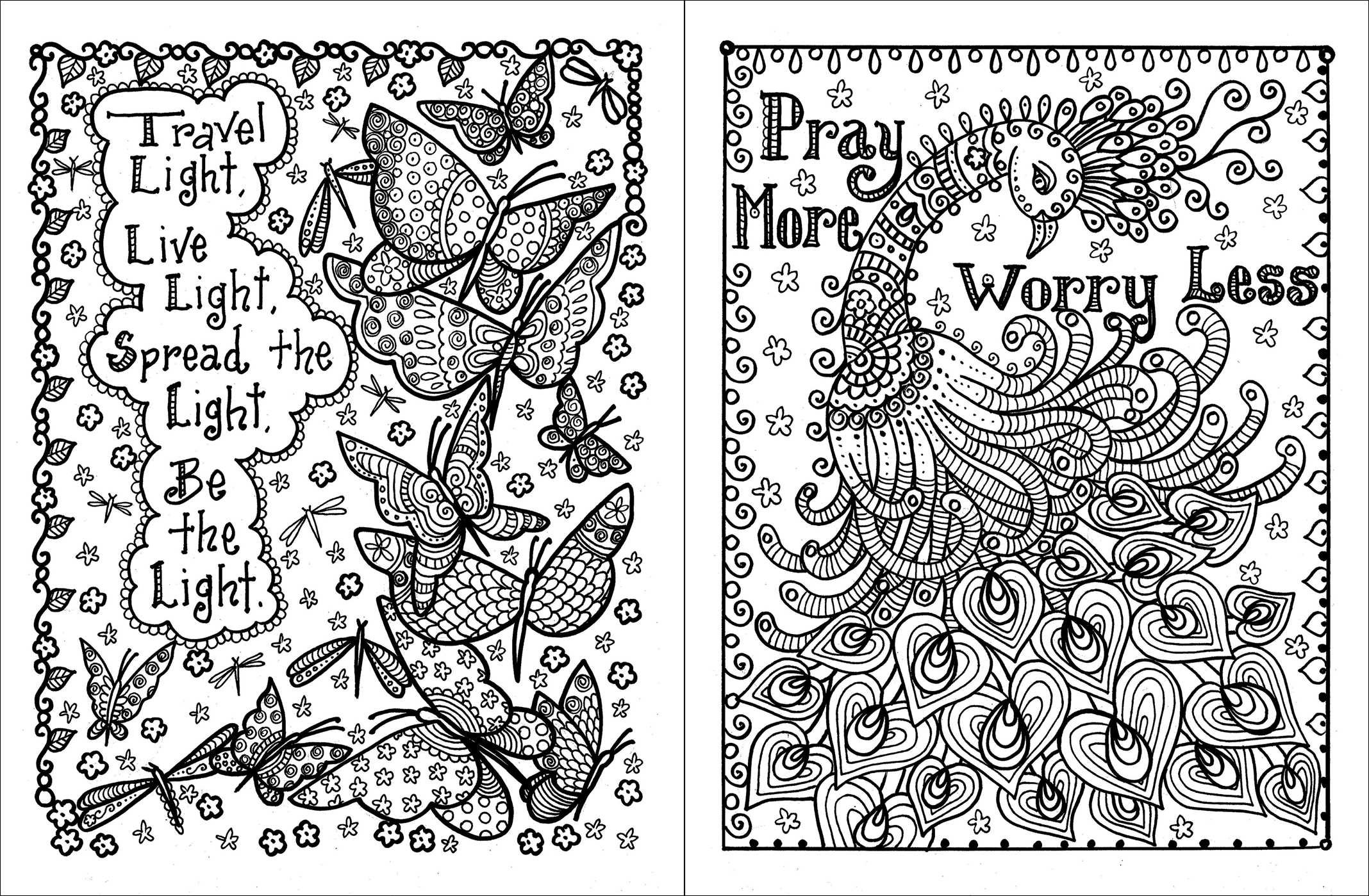 amazoncom posh adult coloring book inspirational quotes for fun relaxation deborah muller posh coloring books 9781449474188 deborah muller books - Inspirational Word Coloring Pages
