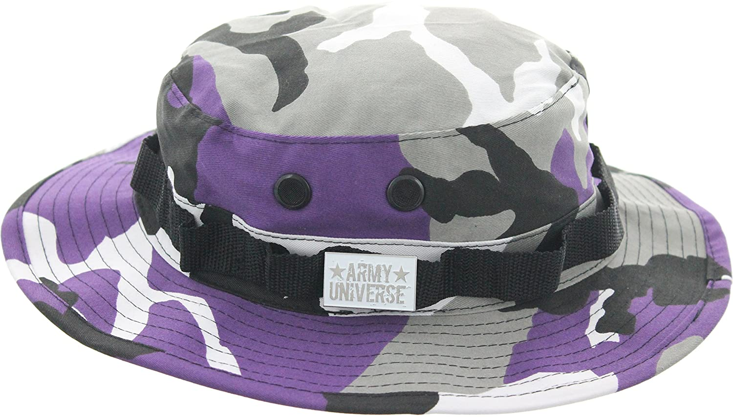 Army Universe Tactical Boonie Hat Military Camo Bucket Wide Brim Sun  Fishing Bush Booney Cap with Pin AUBOONIEHATS d37a790be884