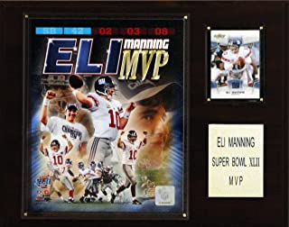 product image for NFL Eli Manning Super Bowl XLII MVP New York Giants Player Plaque