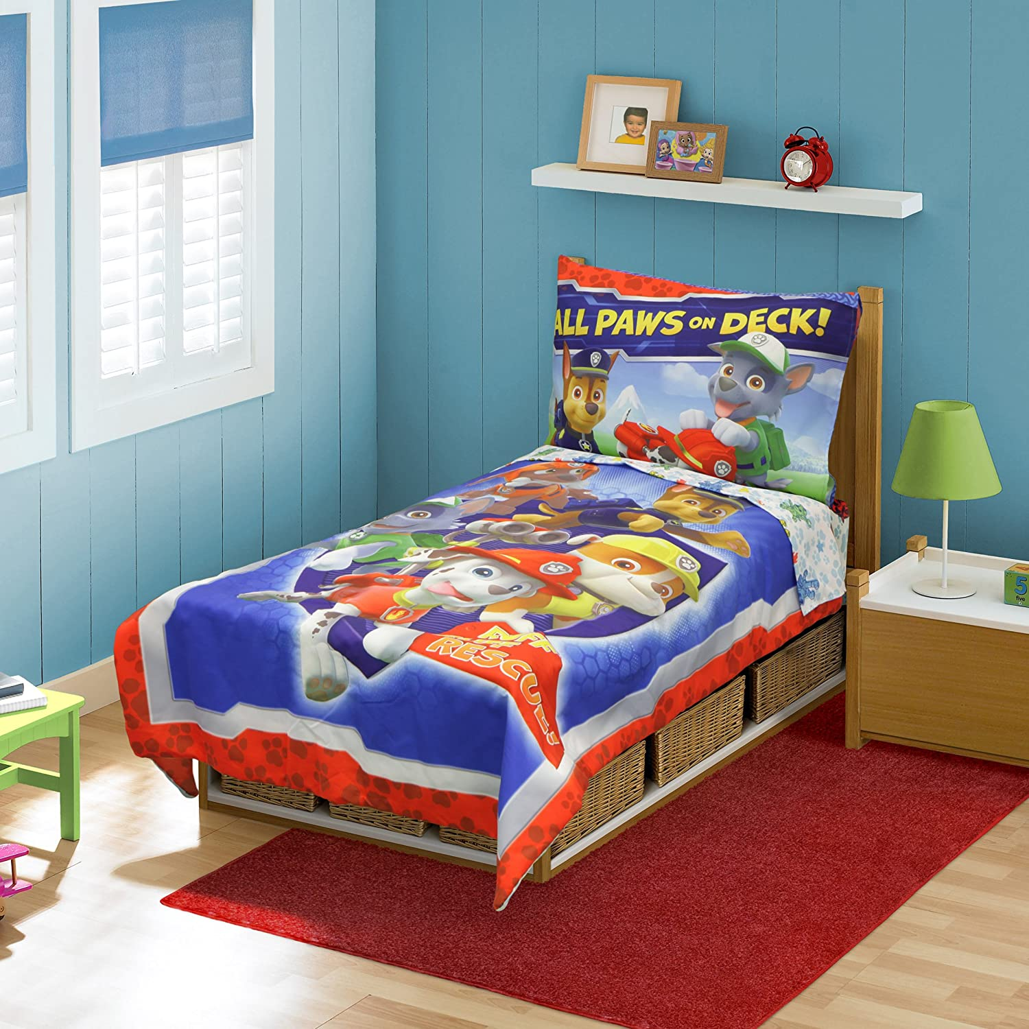 Amazon.com : Paw Patrol Toddler Bed Set, Blue : Baby