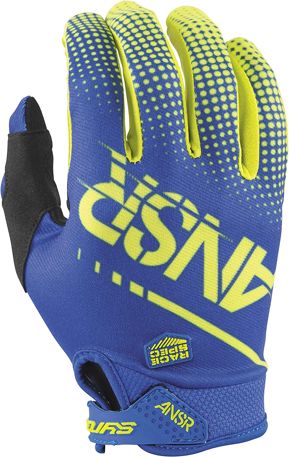 Acid//Blue Answer Racing A17.5 Syncron Boys MotoX Motorcycle Gloves Small