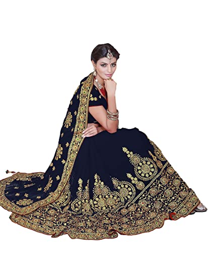 Review Sourbh Mirchi Fashion Women's Embroidered Bridal Wedding Saree (3441_with Color Option)