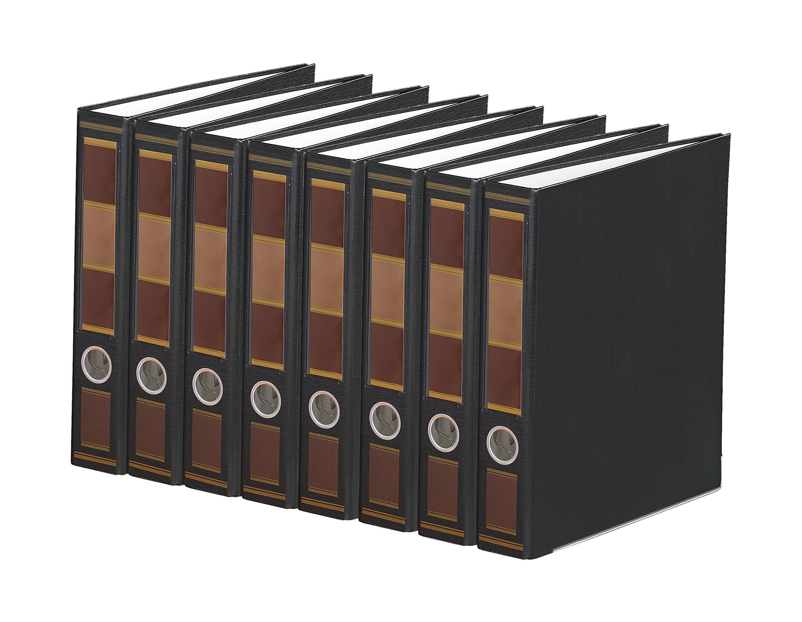 Bindertek 3-Ring 2-Inch Premium Binder 7-Pack, Barrister Black