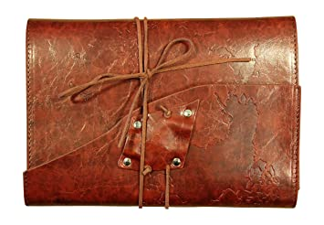 Amazon soul leather journal handmade embossed world map soul leather journal handmade embossed world map refillable travel notebook diary red wine gumiabroncs Choice Image