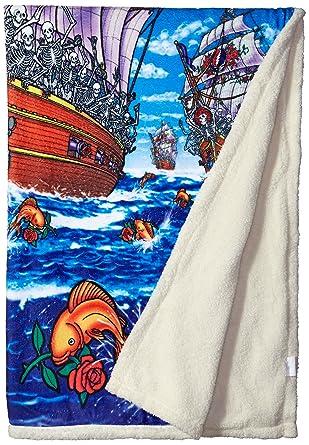 Amazon Liquid Blue Men's Grateful Dead Ship Of Fools Warm Coral Gorgeous Grateful Dead Throw Blanket