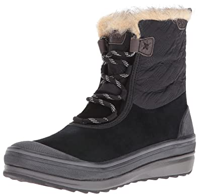CLARKS Women's Muckers Mist Snow Boot, Black Suede/Textile, ...