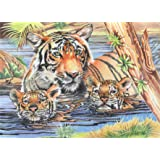 Reeves - Senior Pencil By Numbers Tiger & Cub