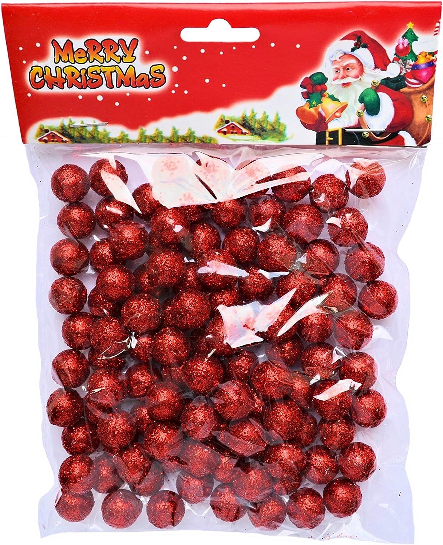 rote Dekokugeln Weihnachtsdeko Gesteckdekoration Tischdeko Partydeko