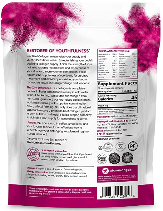 Amazon.com: Zint Collagen Peptides en polvo (paquete de 48 ...