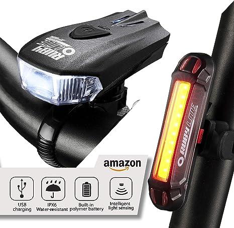 RUBY LITE ™ luces de bicicleta, recargables por USB, luz delantera ...