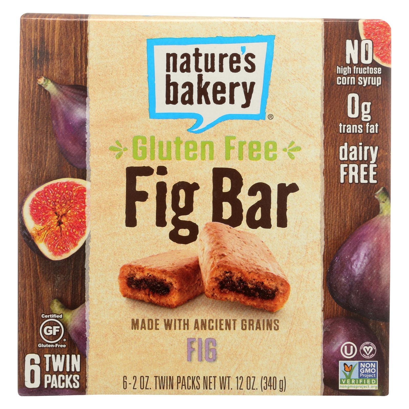 NATURE'S BAKERY, Fig Bar, Original, Gf, Pack of 6, Size 6/2 OZ, (Gluten Free Kosher)