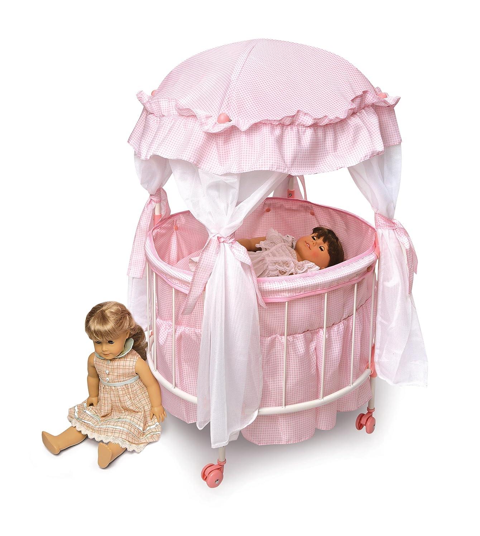 Amazoncom Badger Basket Royal Pavilion Round Doll Crib With Canopy