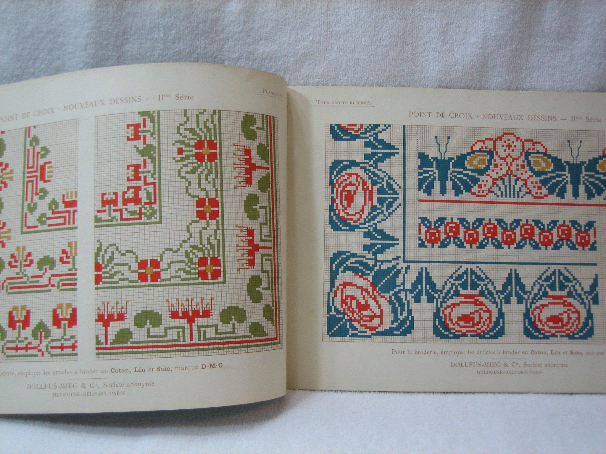 Point De Croix Nouveaux Dessins 2me Serie Bibliotheque D M C Therese De Dillmont Amazon Com Books