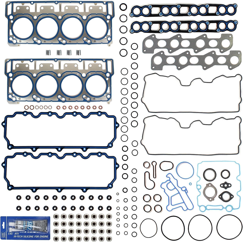 ECCPP Head Gasket Set for 03 04 05 06 07 08 09 10 Ford E-350 Club Wagon E-450 Super Duty F-250 F-350 F-450 Ford F-550 Super Duty Excursion 6.0L Head Gaskets Kit HSU26734 26374PT 058162-5211-1742211
