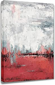 Yihui Arts Abstract Wall Art for Living Room Pink Decor Landscape Designs Artwork Painting Pictures Ready to Hang (24x36IN)