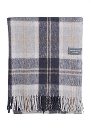 "2121dc0b19a96 The Tartan Blanket Co. Recycled Wool Knee Blanket Bannockbane Silver Tartan  30"" ..."