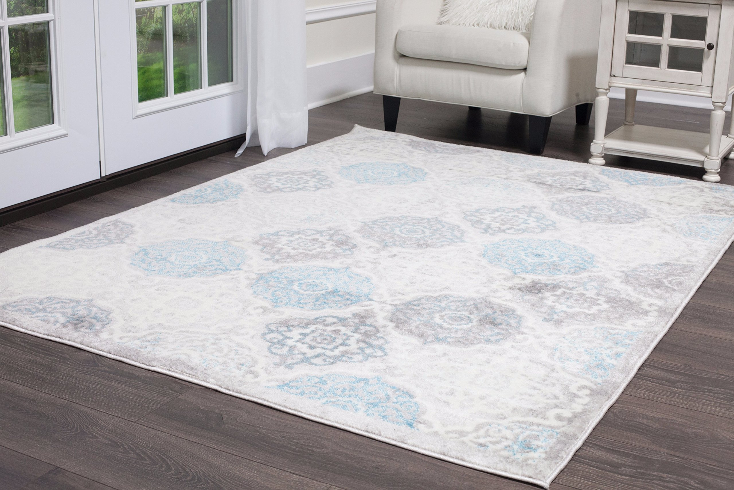 Home Dynamix Boho Andorra 5'2'' x7'2 Area Rug Gray/Blue by Home Dynamix