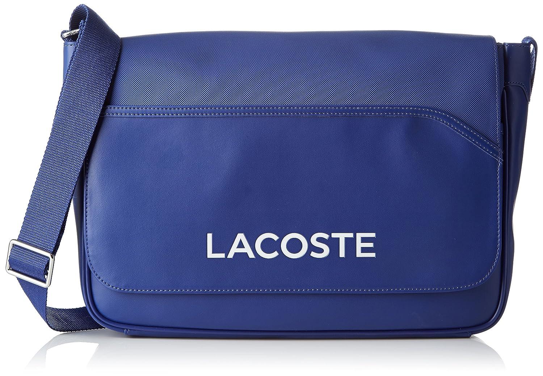 Lacoste Nh0864ut, Bolso Bandolera para Hombre, 27 x 10 x 39 cM Azul (Mazarine Blue)