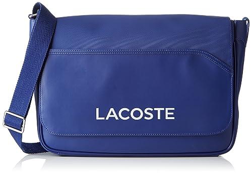 5b6f04c8be Lacoste NH0864UT, Borsa a Tracolla Uomo, Mazarine Blue, 27 x 10 x 39 cM:  Amazon.it: Scarpe e borse