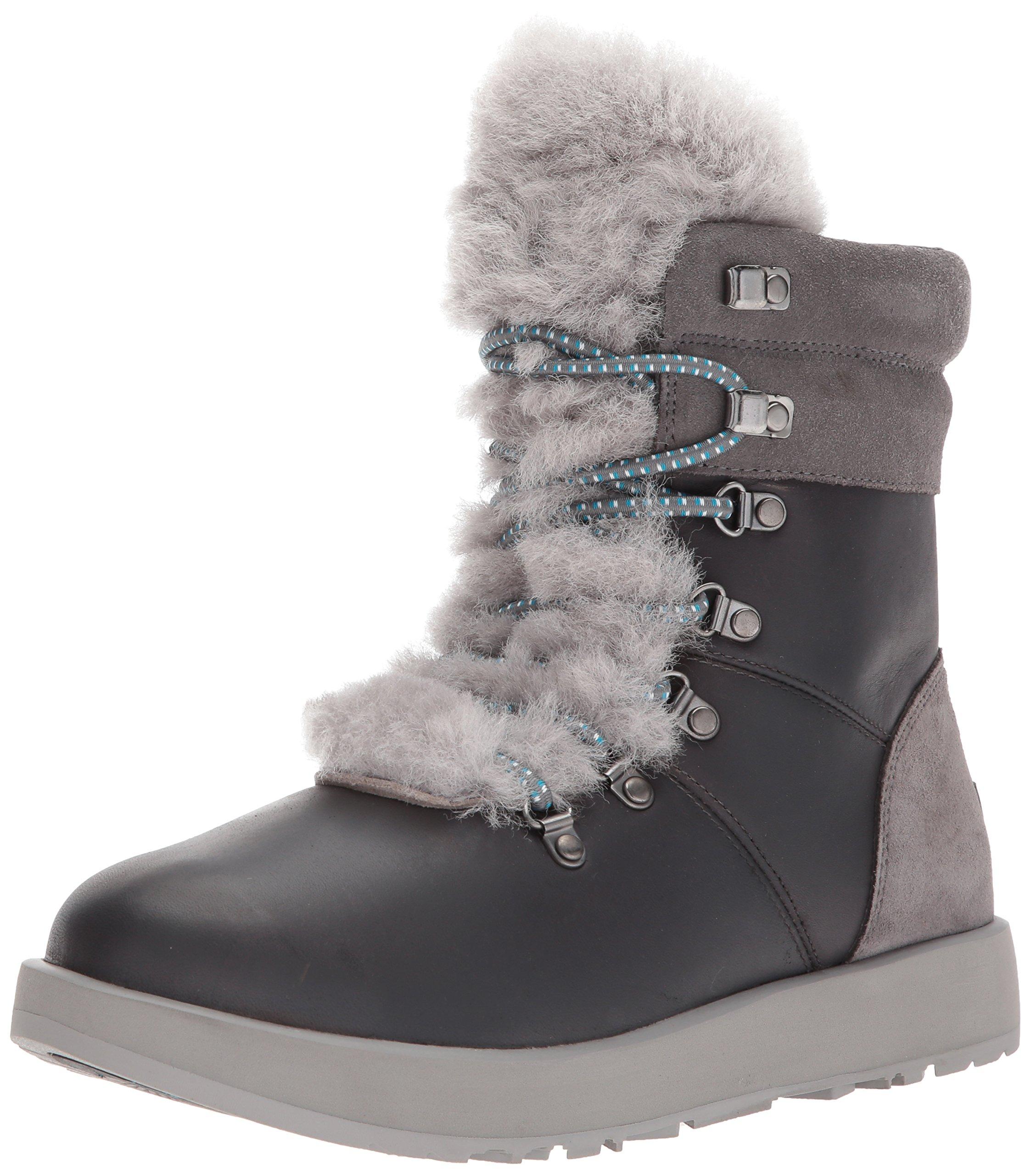 UGG Women's Viki Waterproof Fashion Sneaker, Metal, 7 B(M) US