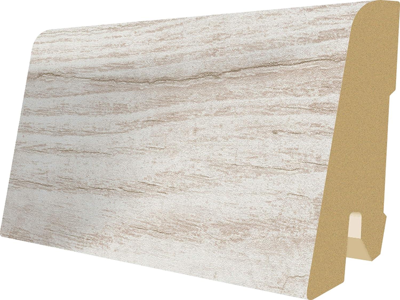 Megafloor Zócalo, rodapié de madera de DM, para suelo, 6cm de altura   Longitud de 2,40m, muchos motivos, L204 rodapié de madera de DM 6cm de altura   Longitud de 2 40m EGGER GmbH & Co. KG