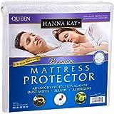 Hanna Kay Premium Mattress Protector-100% Waterproof -Vinyl Free-Hypoallergenic - 10 Year Warranty- Queens Size