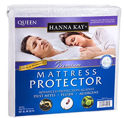 Hanna Kay Cotton - Polyurethane Queen Waterproof Mattress Protector