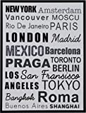 "Amazon Brand – Rivet City Name Wall Art Canvas Print in Black Frame, 17.75"" x 21.75"""