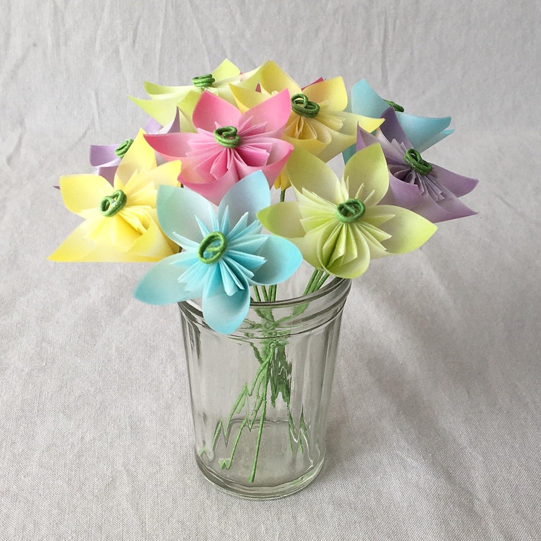 Amazon Mini Pastel Origami Flower Arrangement Handmade
