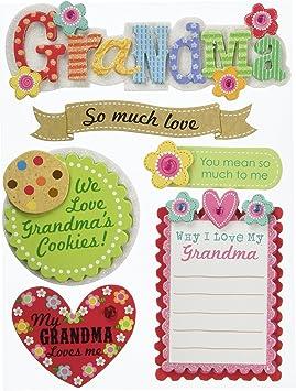 me /& my BIG ideas Soft Spoken Themed Embellishments Grandma