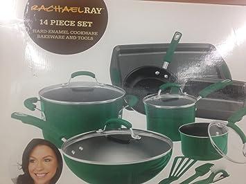 Rachael Ray Hinojo Juego de batería de cocina (14 piezas: Amazon.es: Hogar