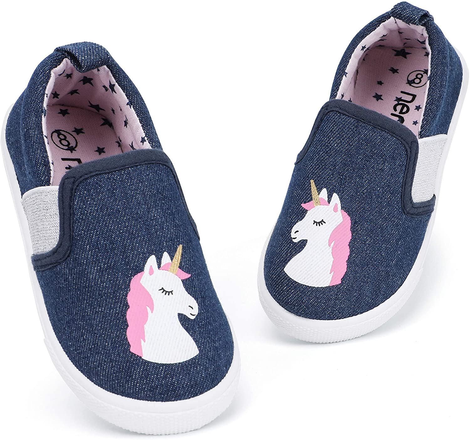 RANLY & SMILY Toddler Shoes Slip On Casual Sneakers